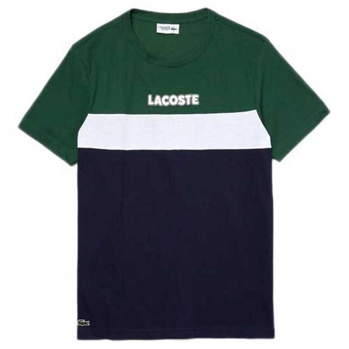 [해외]라코스테 Sport Colourblock Cotton Blend 12137685319 Green / Navy Blue / White