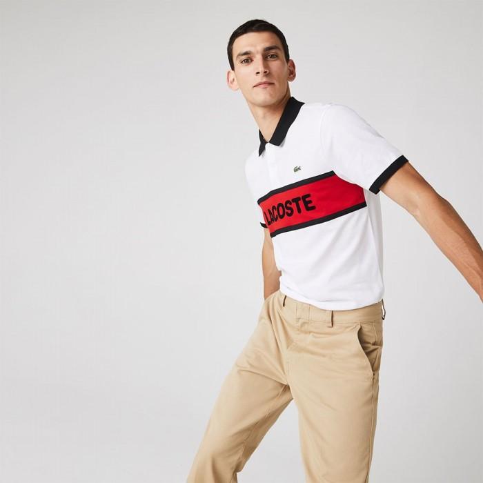 [해외]라코스테 Sport Graphic Print Cotton 12137685394 White / Red / Black