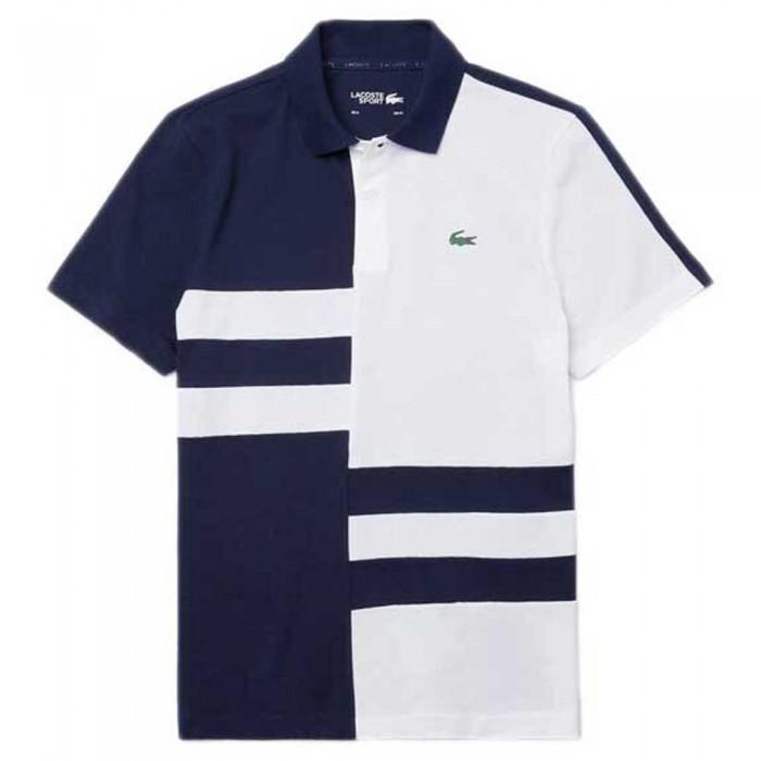 [해외]라코스테 Sport Colourblock Lightweight Cotton 12137685399 Navy Blue / White / White