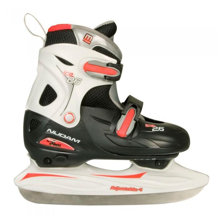 [해외]NIJDAM Ice Hockey Adjustable 14137797504 Black / Red