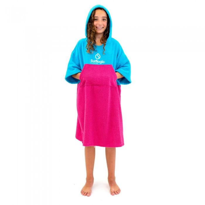 [해외]SURFLOGIC Poncho 14137794697 Cyan / Neon Pink