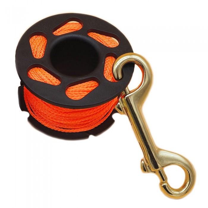[해외]METALSUB Dive 1.5 mm Reel With Brass Snap 10137684903 Black / Orange / Gold