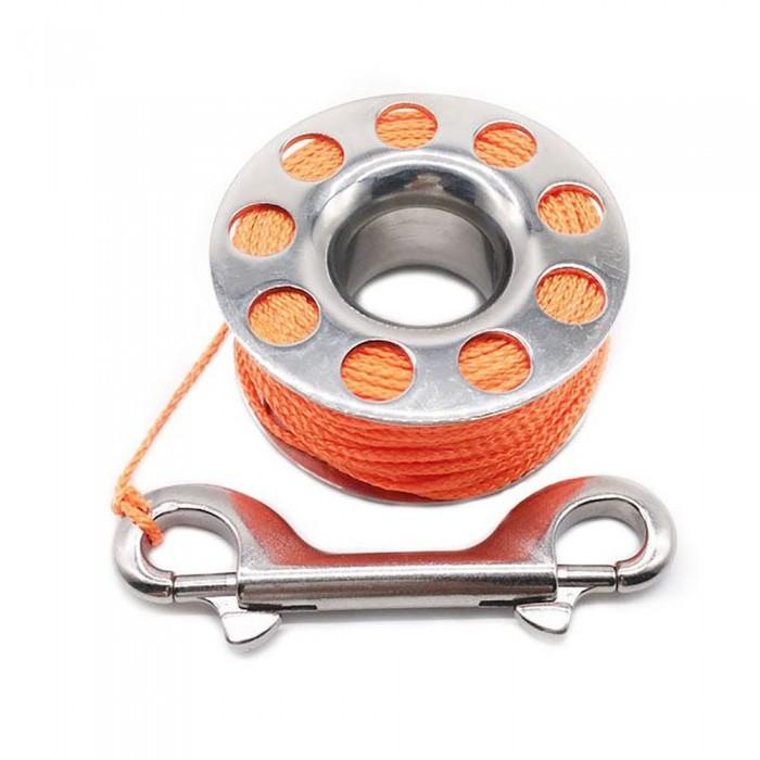 [해외]METALSUB Inox Tech 1.5 mm Reel With Stainless Snap 10137684905 Silve / Orange