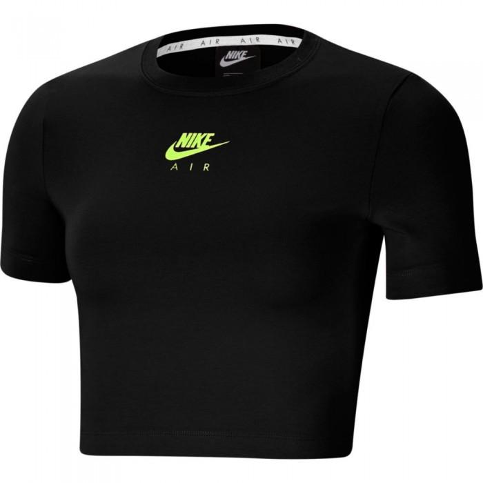 [해외]나이키 Sportswear Air Crop Top 137708108 Black / Volt / Volt