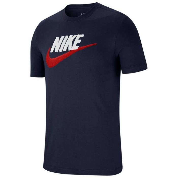 [해외]나이키 Sportswear Brand Mark Tee Tall 137192330 Obsidian / White / University Red