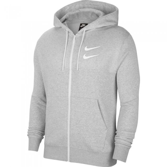 [해외]나이키 Sportswear Swoosh Full Zip 137708207 Grey Heather / White