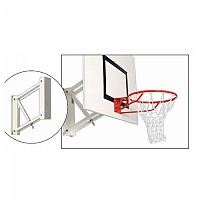 [해외]POWERSHOT Wall Mounted Adjustable Basketball Hoop 3137817511 White