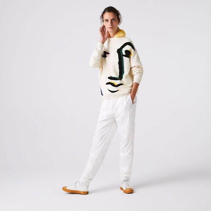 [해외]라코스테 Live Face Design Wool Blend Loose 137684907 White / Multicolour