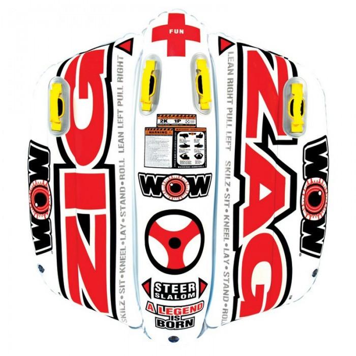 [해외]WOW Ski Tube Zigzag 14137796634 White / Red