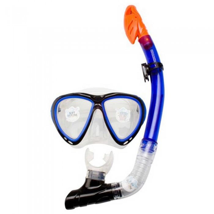[해외]WAIMEA Silicona Diving Mask with Snorkel 10137618925 Cobalt Blue