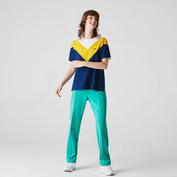 [해외]라코스테 Colourblock Soft Cotton 137685290 Blue / Yellow / White