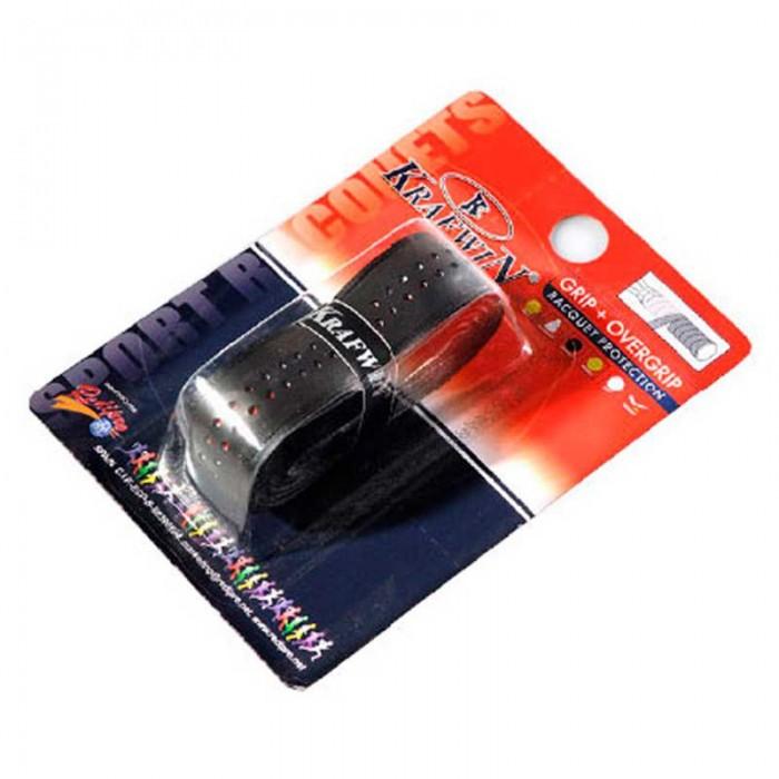 [해외]KRAFWIN Tennis Grip+Overgrip 12137542607 Black