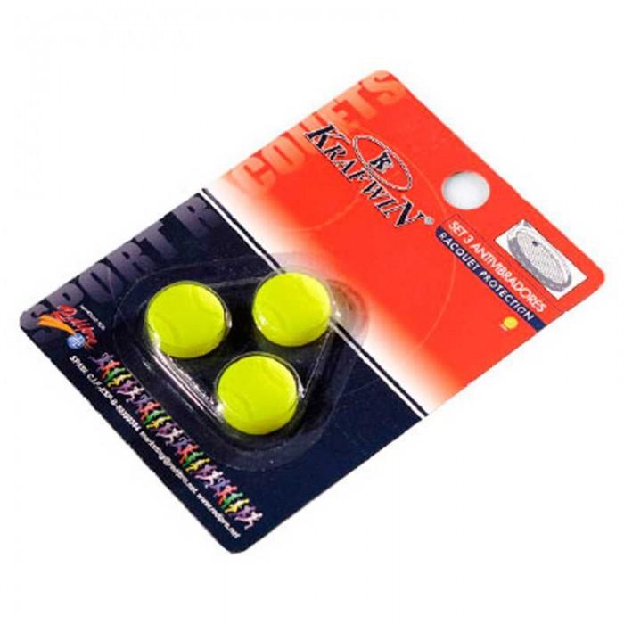 [해외]KRAFWIN Tennis Ball Tennis Dampeners 3 Units 12137542609 Yellow