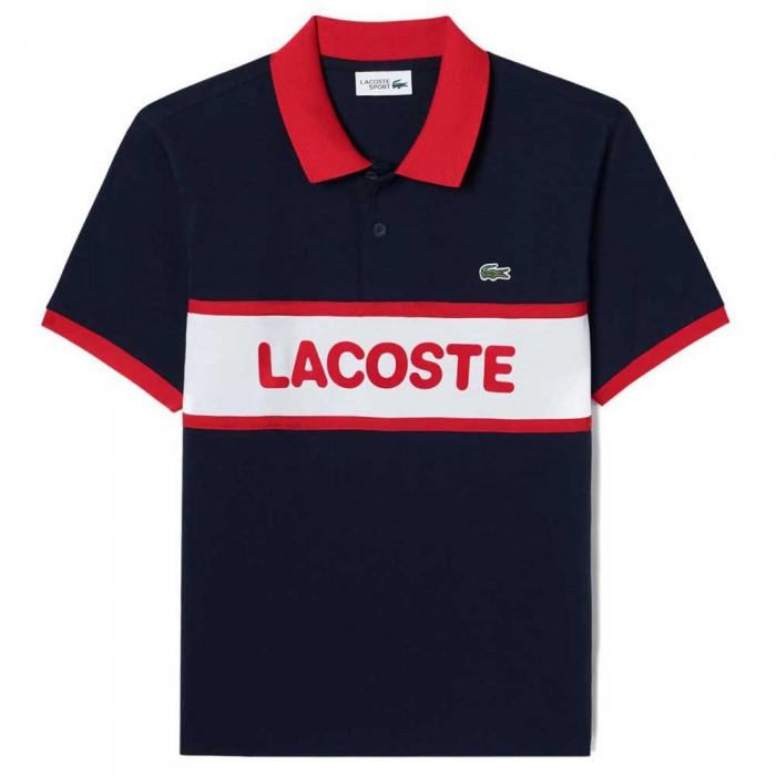 [해외]라코스테 Sport Graphic Print Cotton 12137685396 Navy Blue / White / Red