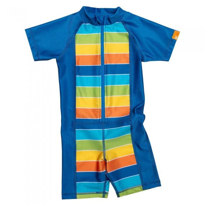 [해외]iQ-Company UV Kinder Stripes Short Sleeve T-Shirt 6137425920 Rainbow