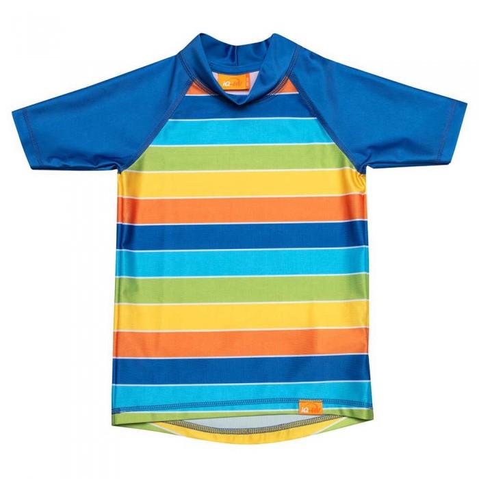 [해외]iQ-Company UV Kinder Stripes Short Sleeve T-Shirt 6137425921 Rainbow