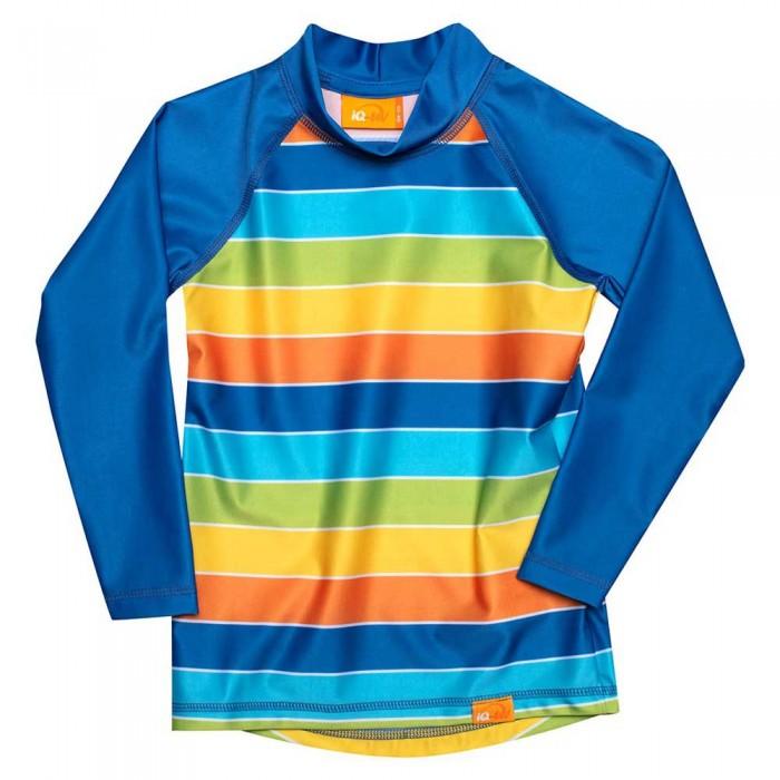 [해외]iQ-Company UV Kinder Stripes Long Sleeve T-Shirt 6137425922 Rainbow / Rainbow
