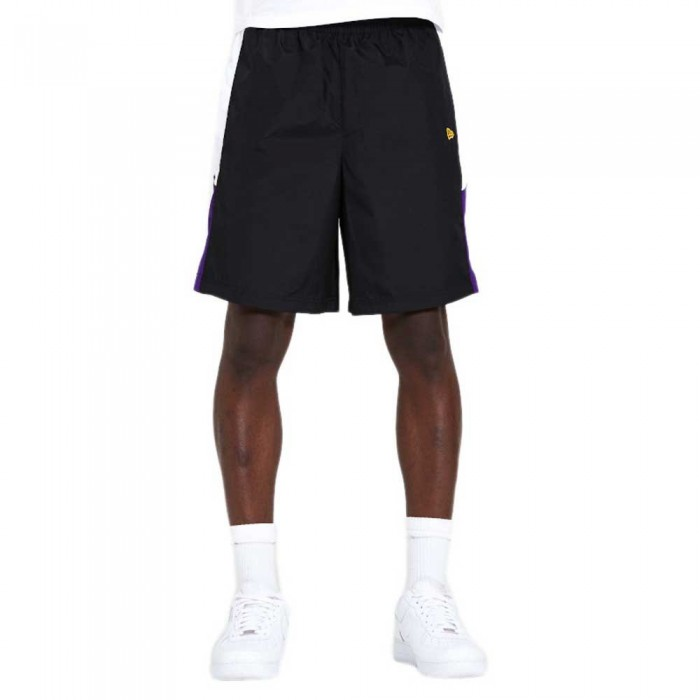 [해외]뉴에라 NBA Print Side Panel Short Los Angeles Lakers 137872956 Black & Team Colour Panel