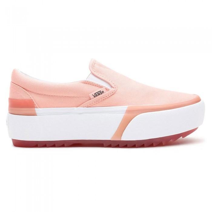 [해외]반스 Classic Slip-On Stacked Man137882368 Pastel Peach Pearl / True White