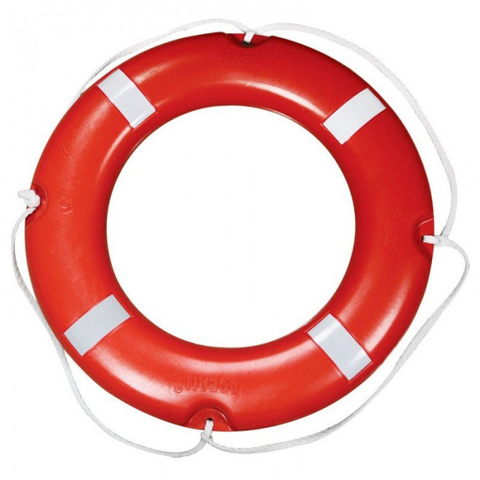 [해외]LALIZAS Lifebuoy Ring SOLAS Reflective Tape 8137796523 White / Red