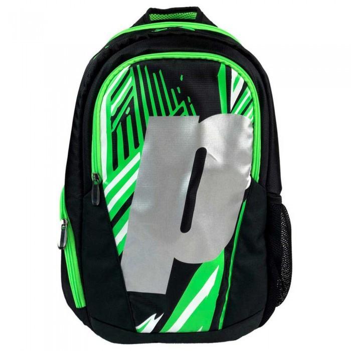 [해외]PRINCE Backpack 12137899970 Black / Green / Silver