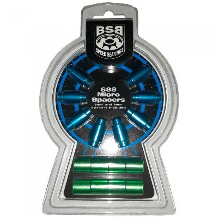 [해외]KRF BSB Aluminium Micro Spacers Kit 01/16 14137923610 Blue / Green