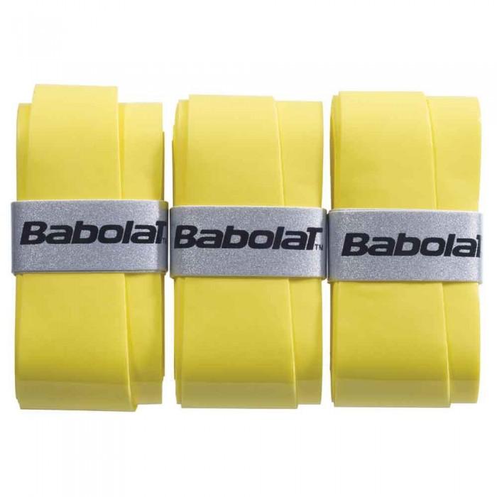 [해외]바볼랏 Pro Tour Comfort Tennis Overgrip 3 Units 12137923163 Yellow