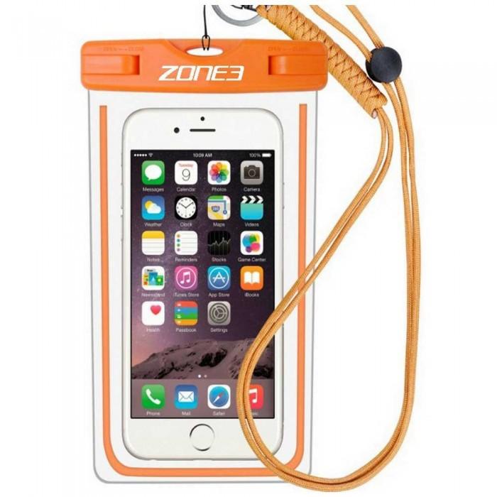 [해외]ZONE3 Waterproof Phone Pouch 6137937204 Clear / Orange