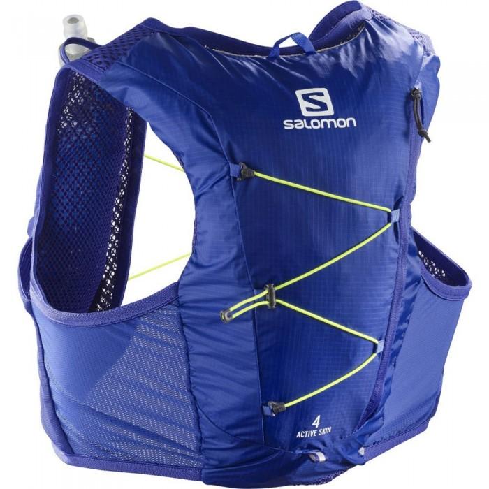 [해외]살로몬 Active Skin 4 Set 6137916541 Clematis Blue / Safety Yellow