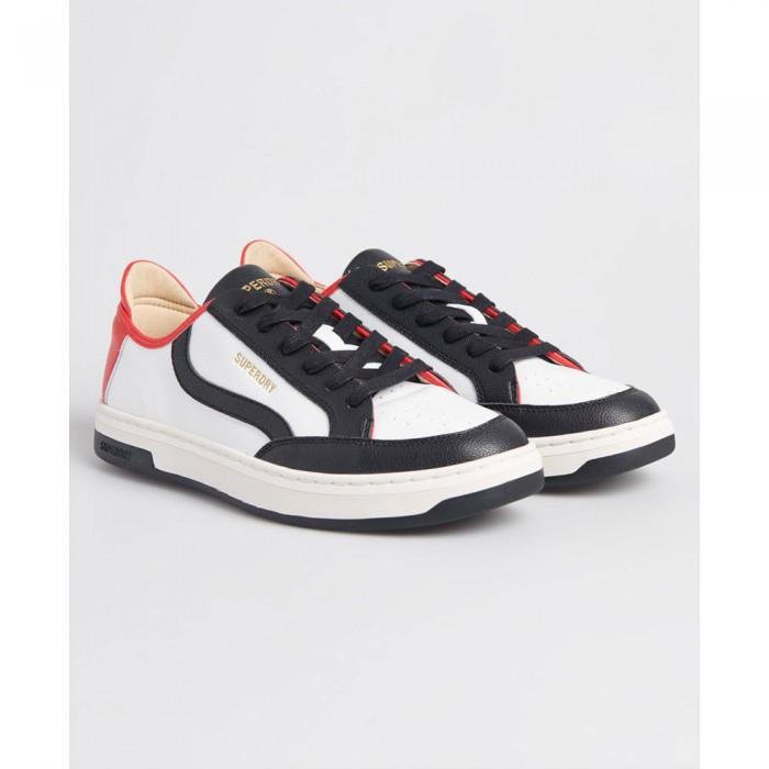 [해외]슈퍼드라이 Vegan Basket Lux Low White / Black / Red
