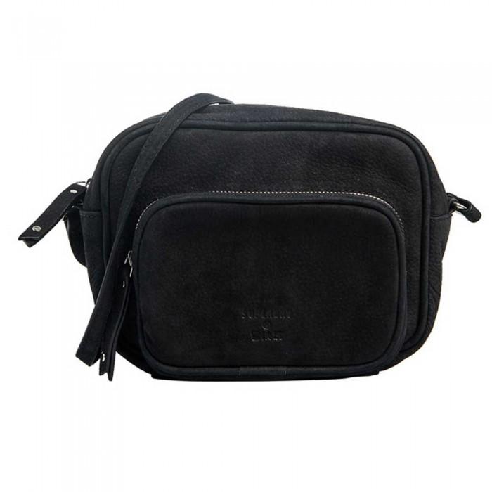 [해외]슈퍼드라이 Large Leather Delwen Cross Body Black