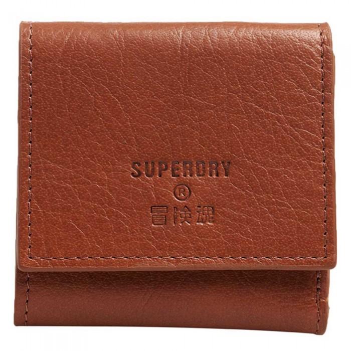[해외]슈퍼드라이 Leather Short Fold Purse 137561241 Tan Oily