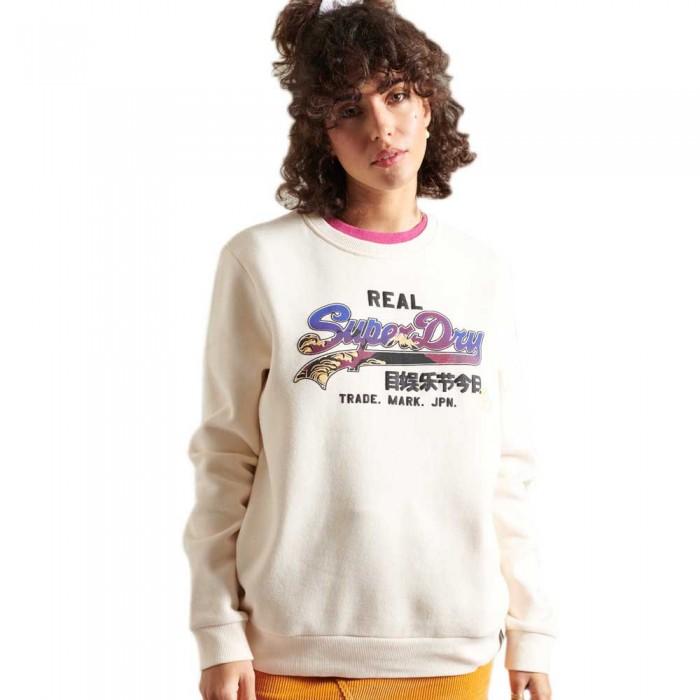 [해외]슈퍼드라이 Vintage Logo Itago Crew Cream Quartz