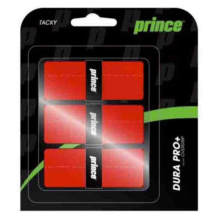 [해외]PRINCE Dura Pro+ Tennis/Padel Overgrip 3 Units 121097220 Red