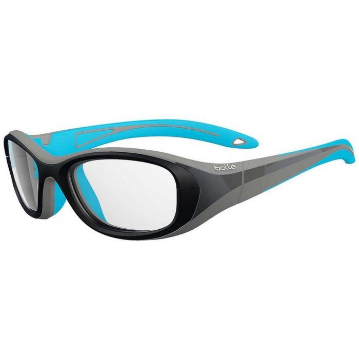 [해외]볼레 Coverage 52 Squash Glasses Junior 12137955790 Matte Black / Blue Variation