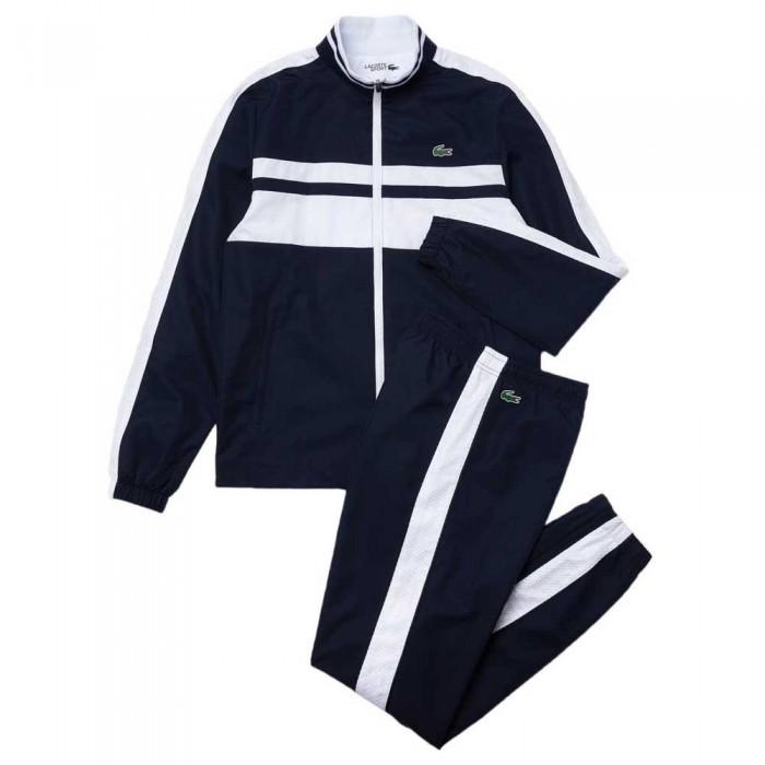 [해외]라코스테 Sport High Neck 12137944780 Marine / Blanc-Blanc-Blanc