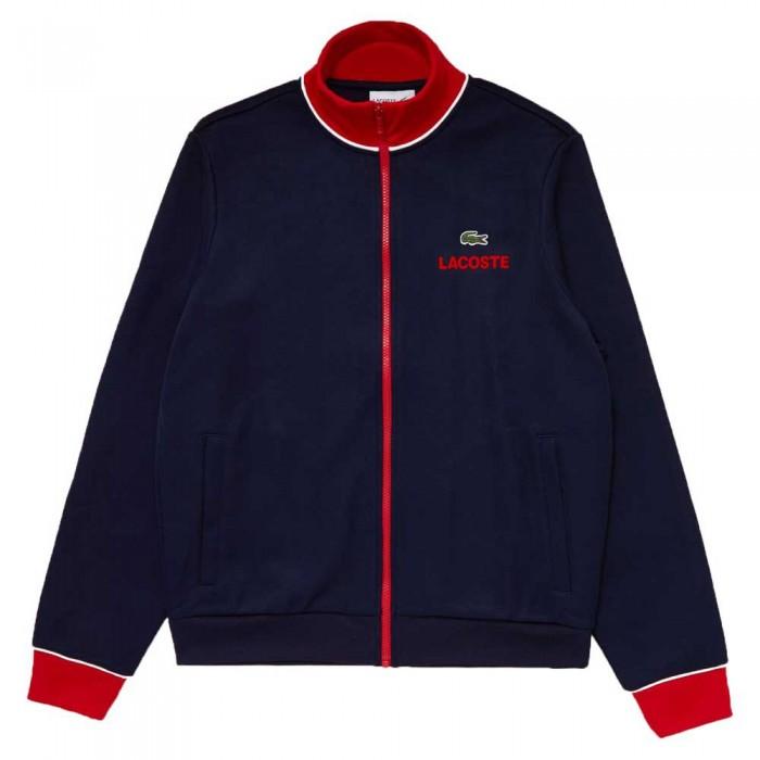 [해외]라코스테 Sport Contrast Accents Print 12137685230 Navy Blue / Red / White