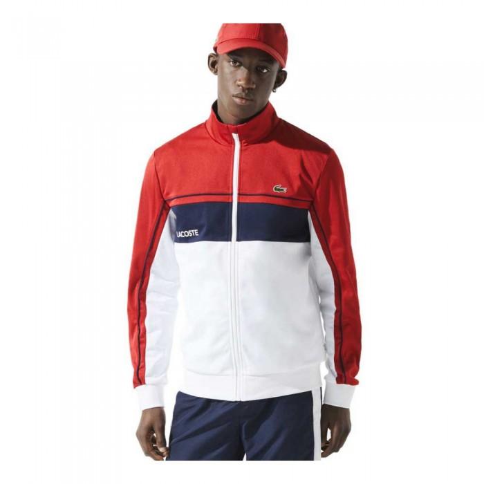 [해외]라코스테 Sport Resistant Colourblock Piqu? 12137944699 Rubis / Blanc-Marine-Blanc