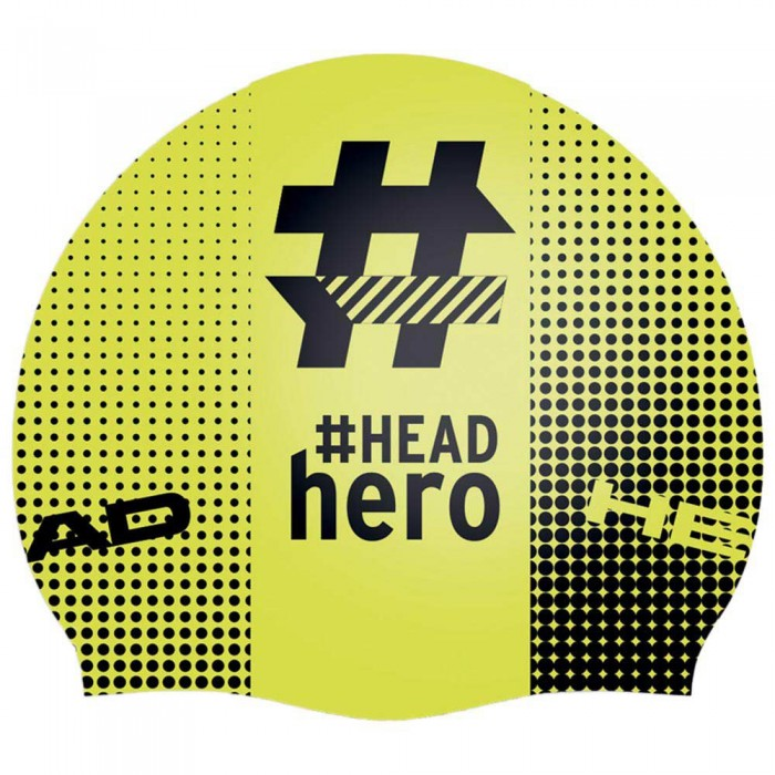 [해외]헤드 SWIMMING Hastag Open Water Swimming Cap 6137475074 Black / Yellow