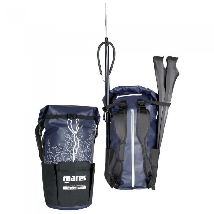 [해외]마레스 Ascent Dry 75L 10137923770 Blue / Black