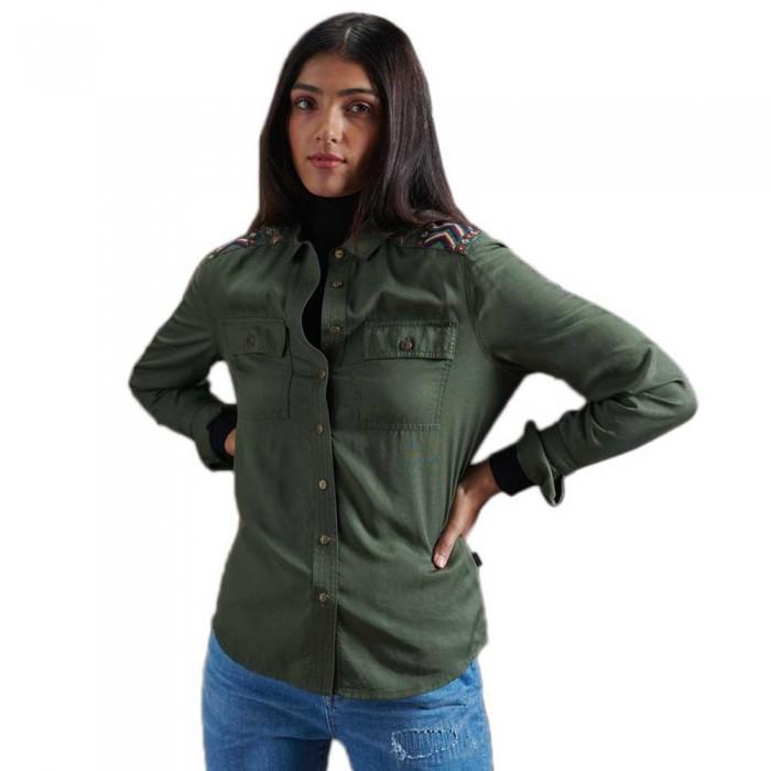 [해외]슈퍼드라이 Military Embroidered Khaki
