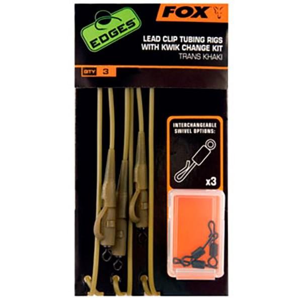 [해외]FOX INTERNATIONAL Edges Lead Clip Tubing Rig 8137873567 Khaki