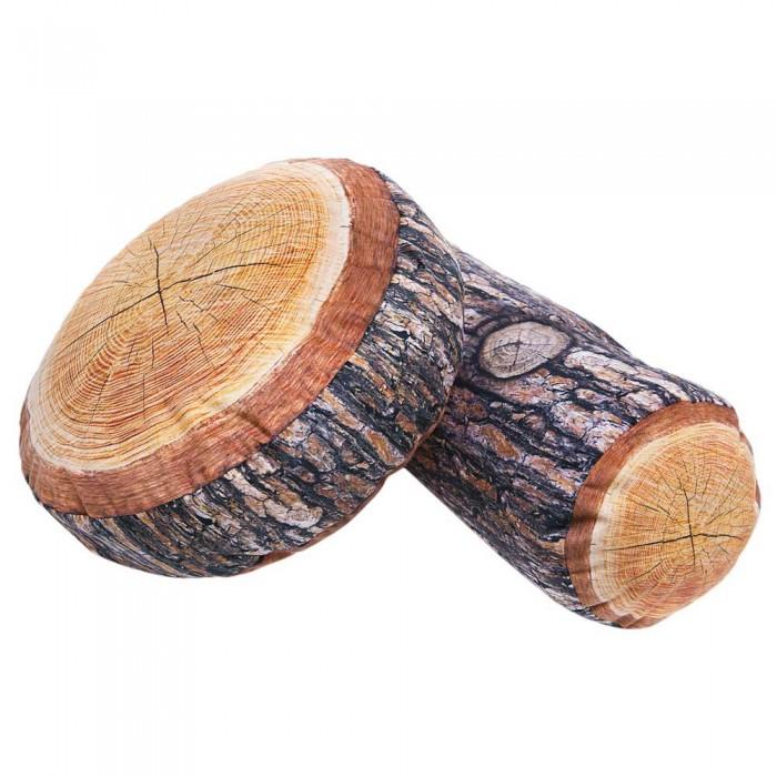 [해외]GABY Wood Pine Cushion 8137934801 Brown / Grey / Orange