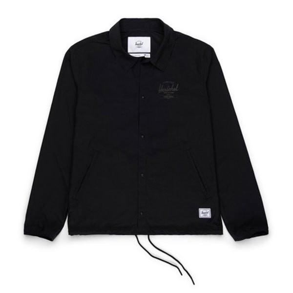 [해외]허쉘 Windbreaker Coach Classic Logo Black / Black Print