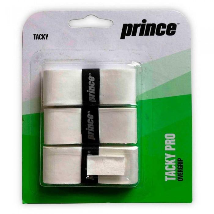 [해외]PRINCE Tacky Pro Tennis/Padel Overgrip 3 Units 12137899904 White