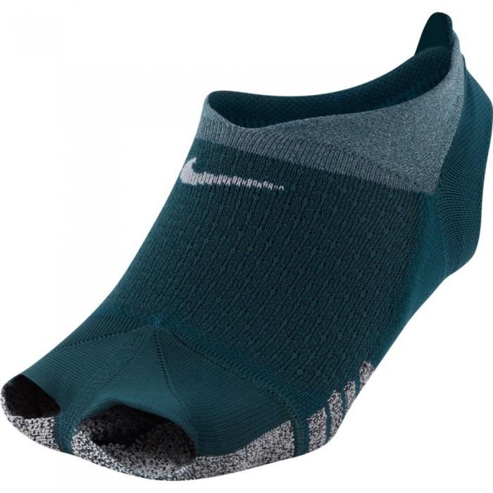 [해외]나이키 Grip Studio Toeless Footie Socks 7137983857 Dark Teal / White