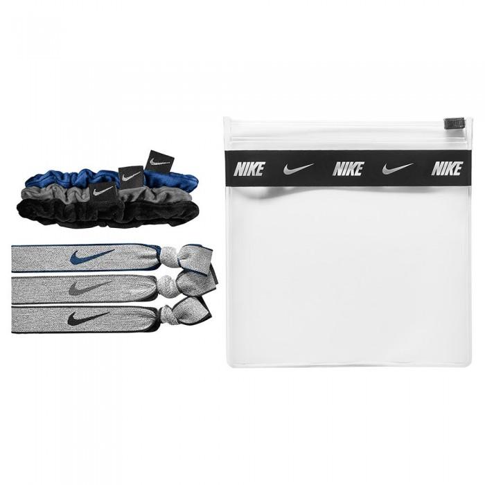 [해외]나이키 ACCESSORIES Pack Velvet Elastic 6 Units 7137888942 Blue / Grey / Black