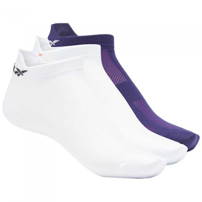 [해외]리복 One Series Tech Style Ankle 3 Pairs Socks 7137939760 Luminous Lilac / Chalk Blue / Dark Orchid