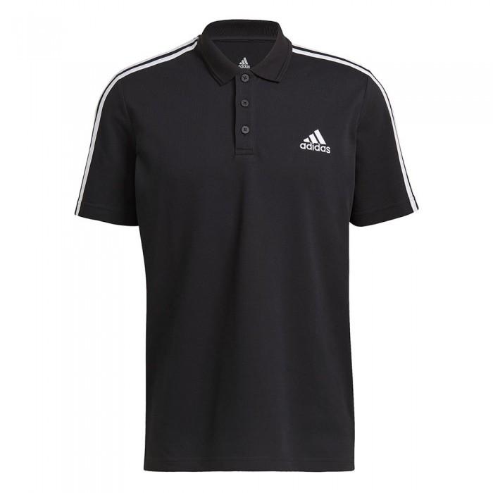 [해외]아디다스 Aeroready Essentials Piqu? Embroidered Small Logo 3-Stripes 7137926832 Black / White