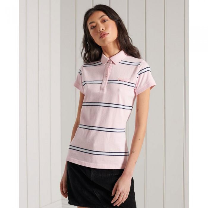 [해외]슈퍼드라이 Academy Varsity Pink Stripe